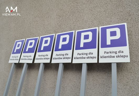 tabliczki_parkingowe_reklamowe_wolnostojace_ stach_katowice